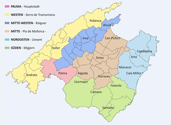 Regionen Gemeinden Und Orte Auf Mallorca
